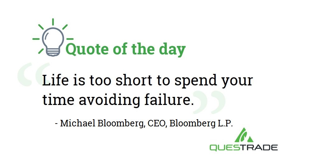 Today's #quote is by @MikeBloomberg - #MondayMotivation  #MondayThoughts #QuoteOfTheDay #Investing