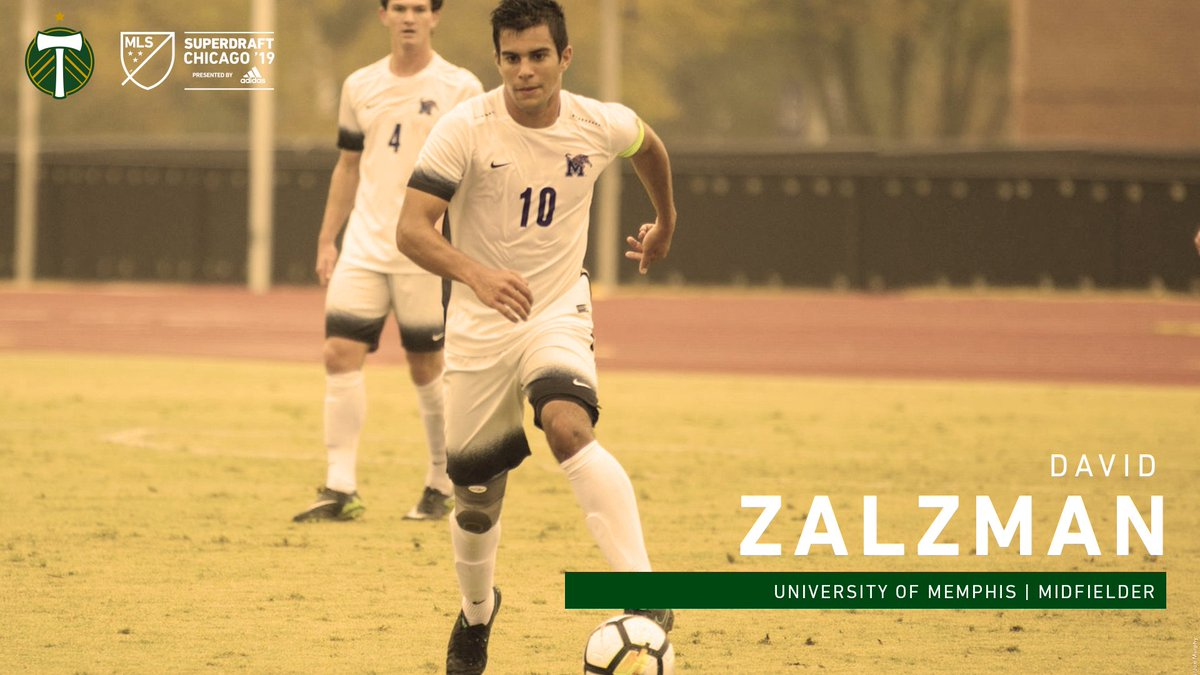In the fourth round of the 2019 @MLS #SuperDraft, the Timbers select midfielder David Zalzman of @MemphisMSoccer. #RCTID<br>http://pic.twitter.com/M5R64lrCDg