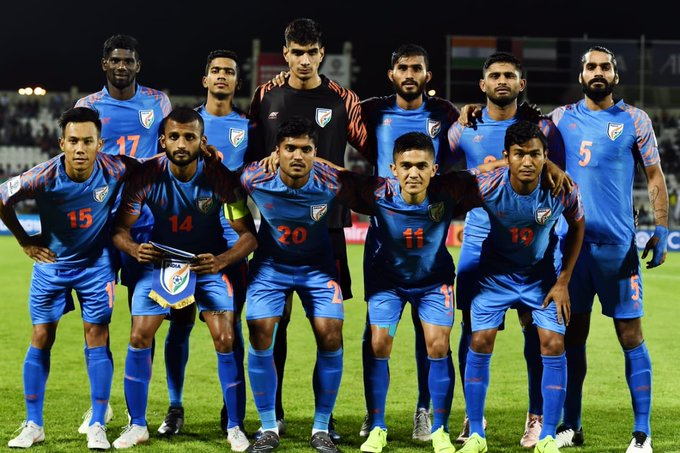 When most of them doubted, you tried well and showed the world what you are capable of. We have only forward to go! 💙👊🏻 @IndianFootball #BacktheBlues Photo