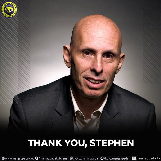 Thank you @StephenConstan You took over this team when we needed someone most and you have only improved us from thereon. All the best for your future. @IndianFootball #BackTheBlues Photo