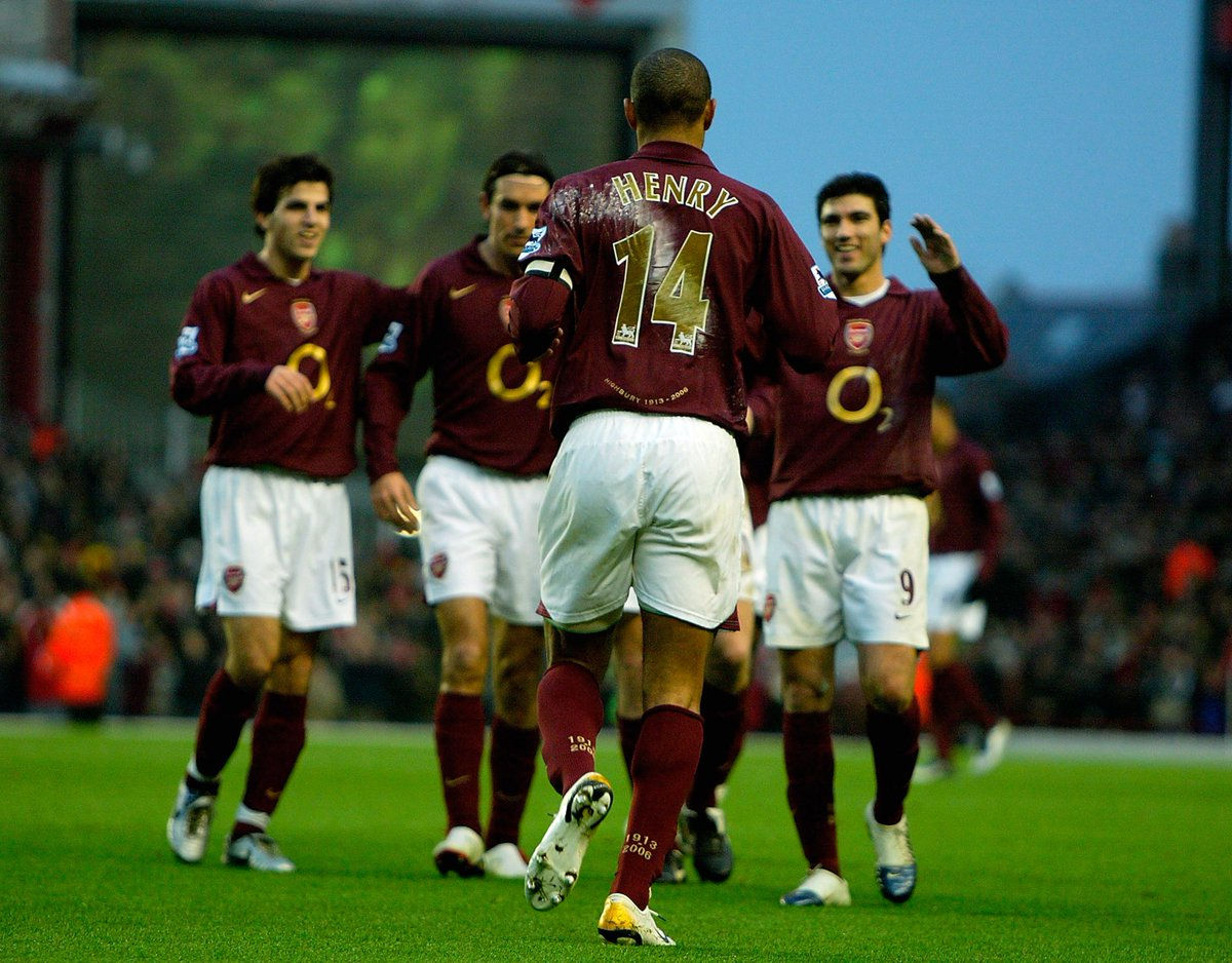#OTD in 2006: Arsenal beat Middlesbrough 7-0 thanks to goals from Pires, Senderos, Hleb, Gilberto and Thierry Henry scoring a hat-trick.