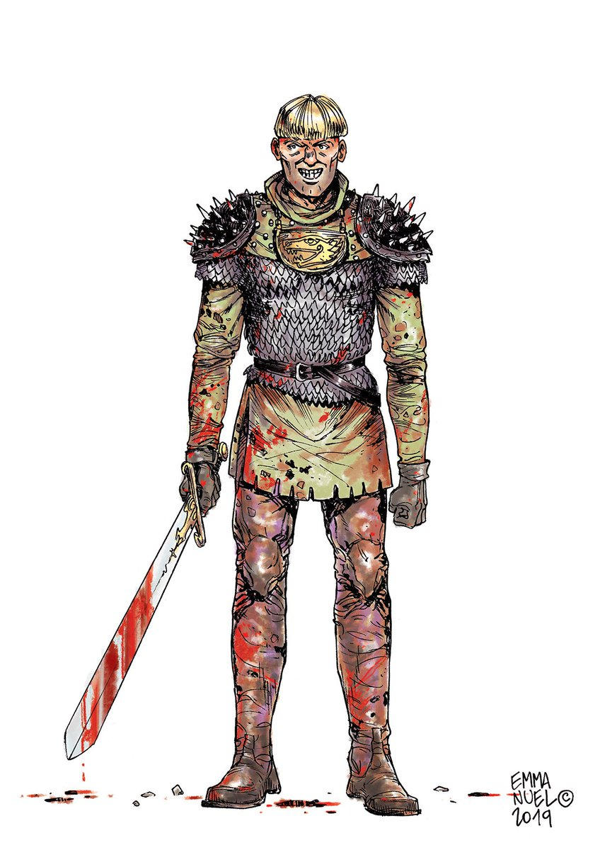😈   Yurgen the bloodthirsty > Yes I know, it does not look very smart, on the other hand with the job it does https://lnkd.in/gtaiuGh mix tradi ( Japanese / European pens + #digitalPainting ) #characterdesign, #conceptArt, #medieval, #NorthernSagas, #Vikings, #Warlord, #Berserk
