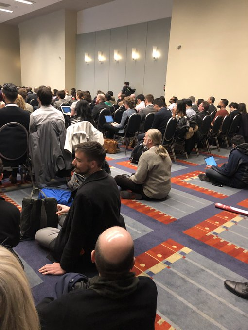 People are really here to talk equity in transportation. It would have been *really nice* if there was one person of color on the panel. #trb19 #trbam Photo
