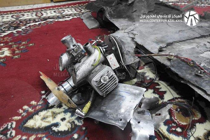 #صعدة_باقم قوات الجيش الوطني اليمني تسقط طائره مسيره محملة بمتفجرات للمليشيات الحوثية الانقلابية الأيرانية الإرهابية في مديرية باقم بمحافظة صعدة #ايران_تصدر_الارهاب_لليمن صورة فوتوغرافية