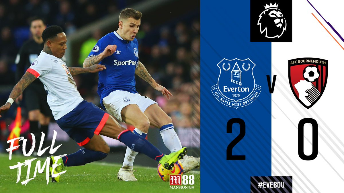 hasil pertandingan @premierleague antara @Everton vs @afcbournemouth #CRYWAT #PremierLeague https://t.co/xqEB7rt1HQ