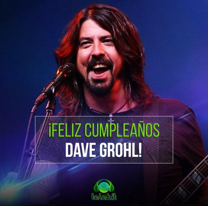 Hoy cumple 50 años el músico multiinstrumentista estadounidense de rock, #DaveGrohl ¡Feliz cumpleaños! 🎉🎈🎂 Foto