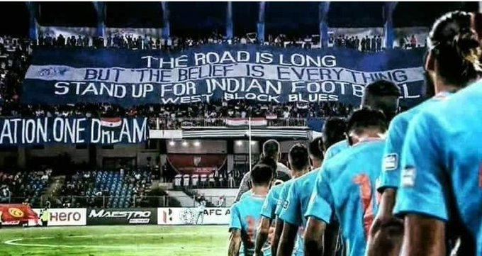 ONE NATION ONE DREAM 🇮🇳⚽ #BacktheBlues #IndianFootball Photo