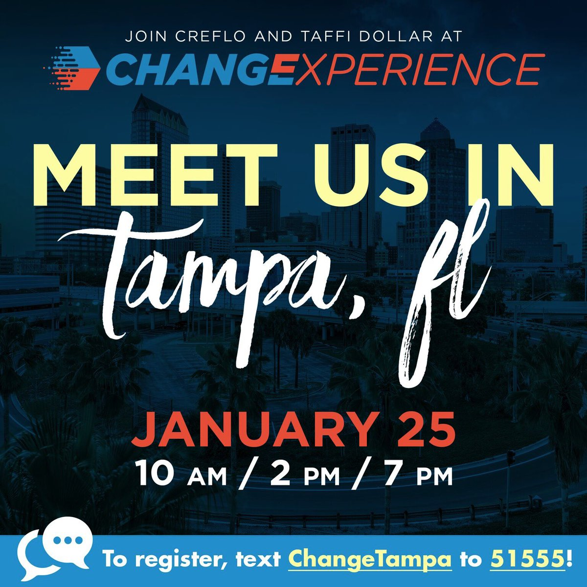 Change Experience 2019 in Tampa, Florida on January 25 is coming up next! This event is free. Don't miss out! Click here to register …https://changeexperience2019tampa.eventbrite.com