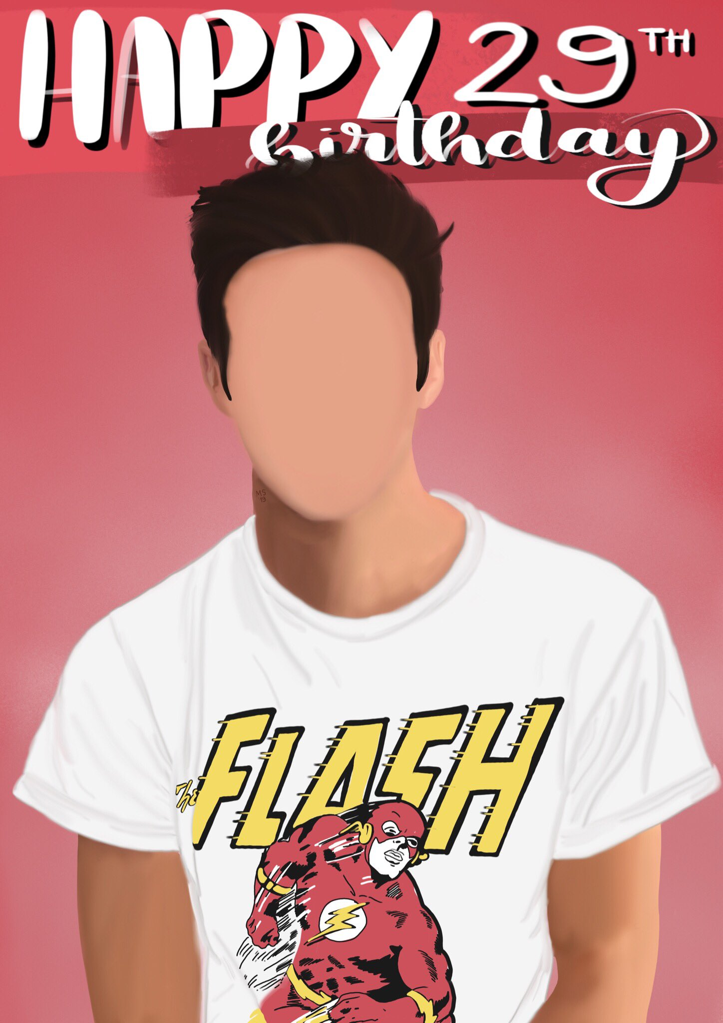 Happy birthday grant gustin!! sorry for messing up your face