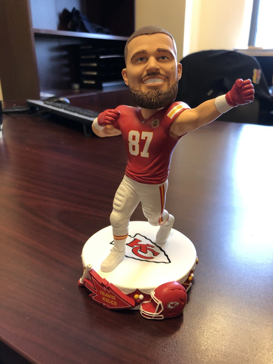 Every day at 5 this week, we are giving away a Chiefs bobble head. Today is Travis Kelce. @610SportsKC https://t.co/RqTo0qOs3E