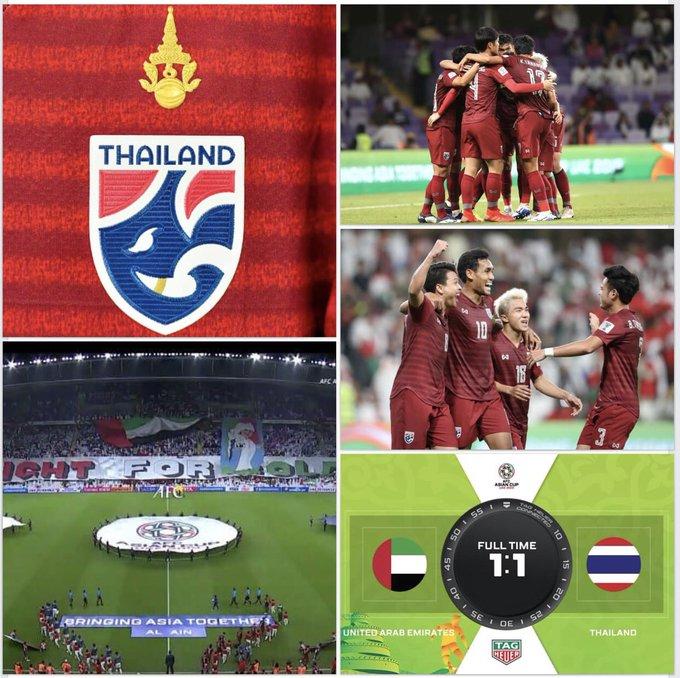 🇹🇭 สุดยอด 🇹🇭 ทีมชาติไทย สร้างประวัติศาสตร์ผ่านเข้ารอบน็อคเอ้าท์ AsianCup ครั้งแรกในรอบ 47 ปี #nationtv ภาพถ่าย