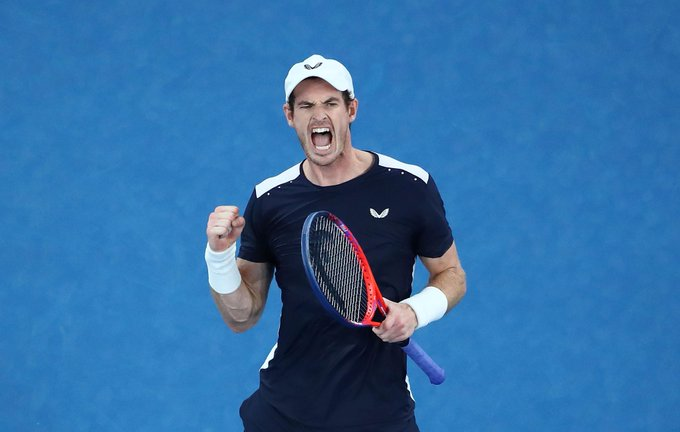 Look back at an enthralling day at the #AusOpen as @andy_murray almost completed an epic comeback 👉 Photo