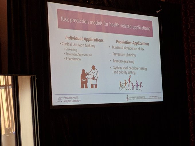 @LauraCRosella is presenting on the use of #IA for improving population Health @CAHSPR #CAHSPRforum2019 Photo