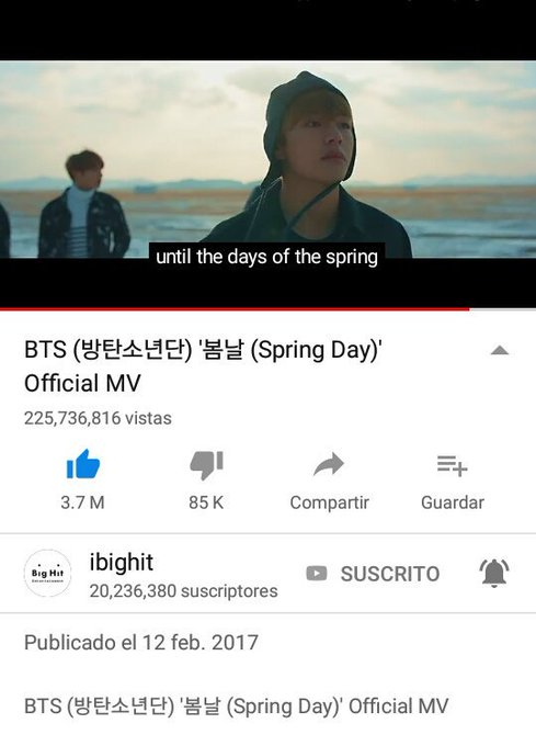 Spring day es una de mis favoritas tanto el mv como la letra y la melodia son hermosas, muy merecido esas 100 semanas en Melon #TeamRed @BTS_twt Foto