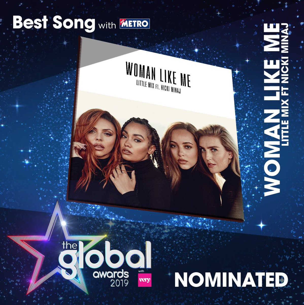 What an amazing couple of days!!! We're nominated for Best Group and Best Song, thank you #TheGlobalAwards! ❤❤❤💃🏼💃🏼💃🏼  Get voting now at https://t.co/QQ0eH1f6Ix the girls x