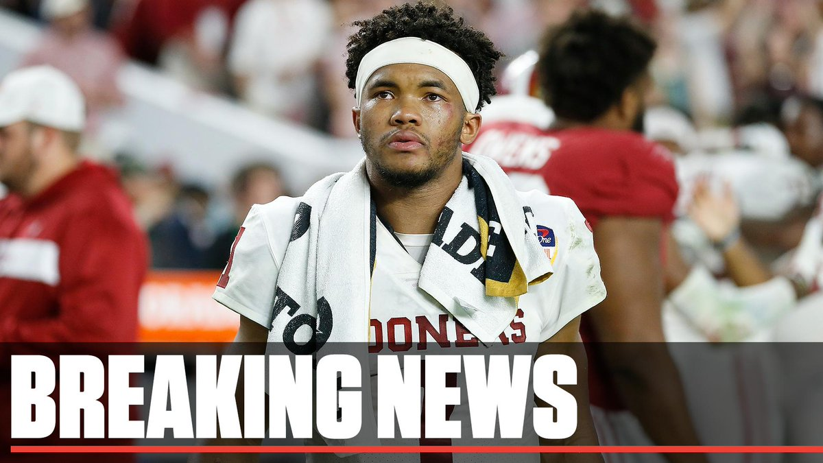 Breaking: Kyler Murray has tweeted that he will declare for the NFL draft.