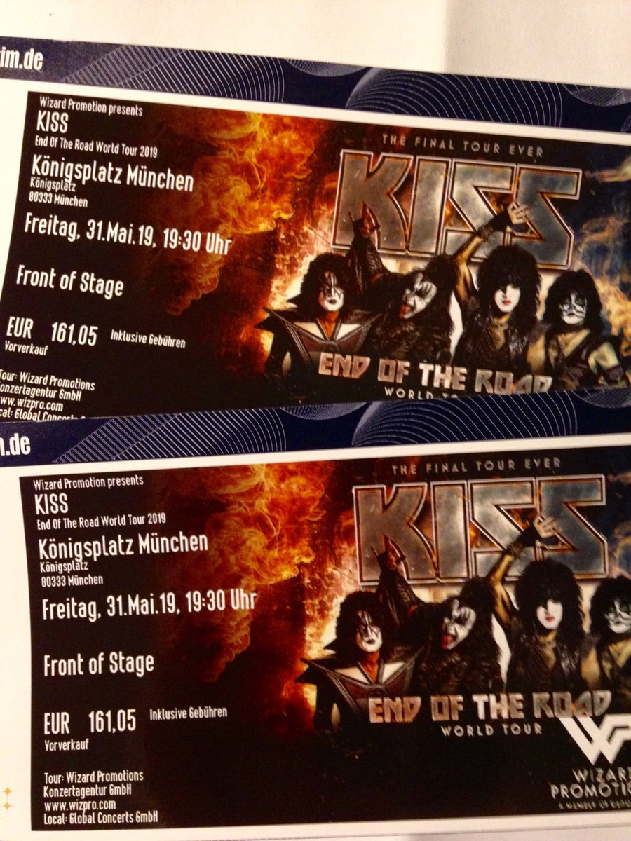 Ready for #KISS in #Germany! YES! We will see you on the #EndOfTheRoad, Olaf @1312Olaf.  Two front of stage for my girl and me. YES!!! #KISSARMYROCKS!<br>http://pic.twitter.com/XnuYZbAzls