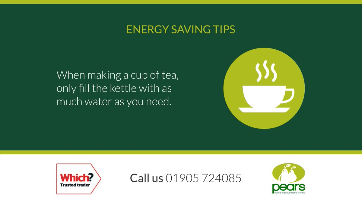 Here is this week's 'Energy Saving Tip' which we hope you'll find useful.  If you need any help with making your home more energy efficient please give us a call.  #WorcestershireHour #energysavingtip