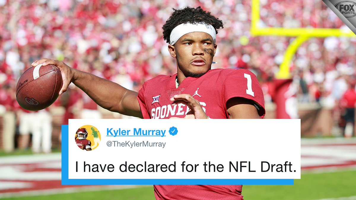 Kyler Murray has declared for the NFL Draft.