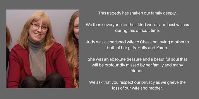 """Judy Booth, 57, is the mother to Holly and Karen, and wife of Ches. She died in the Westboro bus crash on January 11. """"She was an absolute treasure and a beautiful soul that will be profoundly missed by her family and many friends,"""" her family said in a statement. #ottnews Photo"""