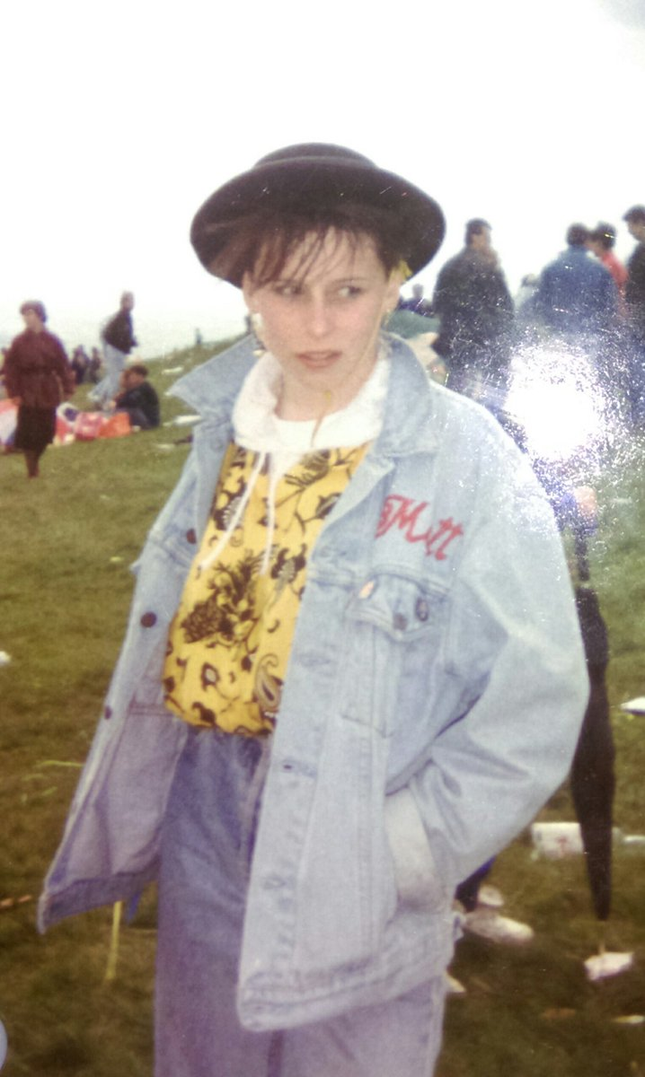 🙈🙈🙈Stroppy teenager! What was I thinking? #DoubleDenim 😂😂 My jacket is still a treasured possession! 😀👌😍