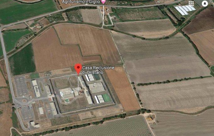 Essa é a nova casinha do terrorista italiano Cesare Battisti, a Casa Reclusione di Oristano Foto