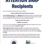 Rhode Island #SNAP recipients: your February SNAP benefits will be on your EBT card by Sunday 1/20/19 #GovernmentShutdown