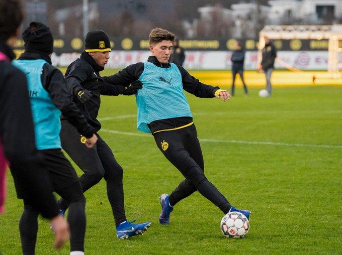 #Alemania 🇩🇪 El primer entrenamiento de Balerdi en el Borussia Dortmund ➡ Foto