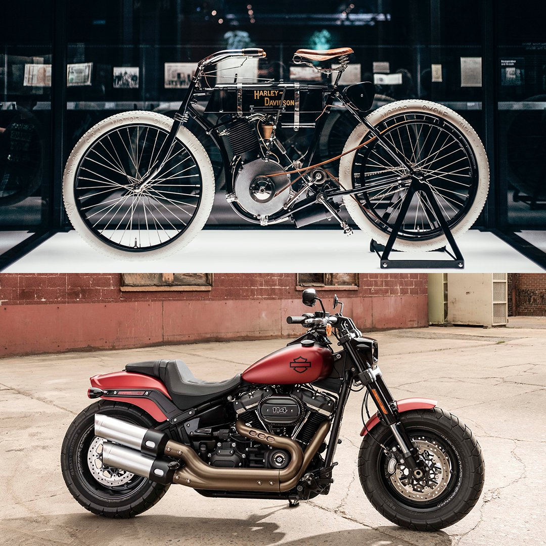 Forget #10YearChallenge - Harley in 1903 vs Harley in 2019. We think we've aged very well.