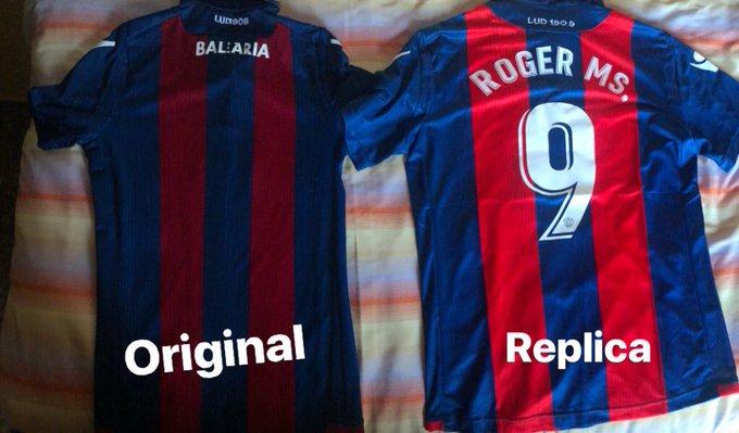 Oye, FAV queréis una mala replica de una camiseta del Levante UD de DHGate. Tengo de Roger y de Bardhi. Photo