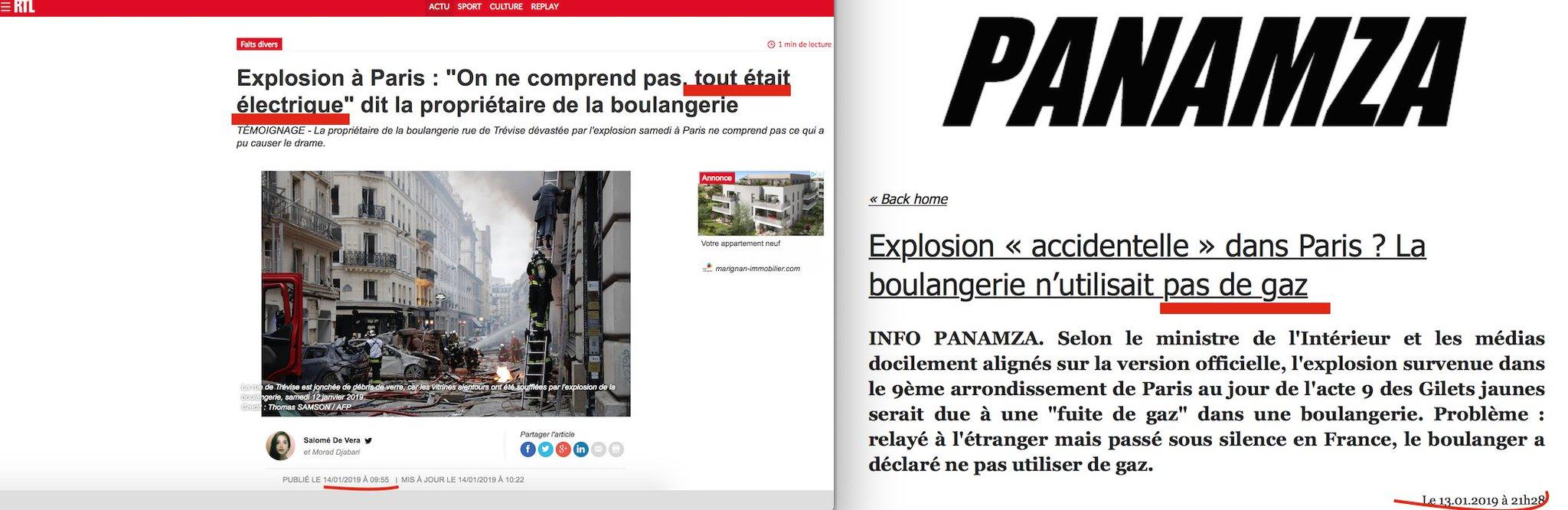 Étrange explosion à Paris : l'info de Panamza est confirmée