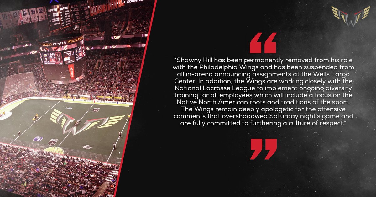 Statement from the Wings