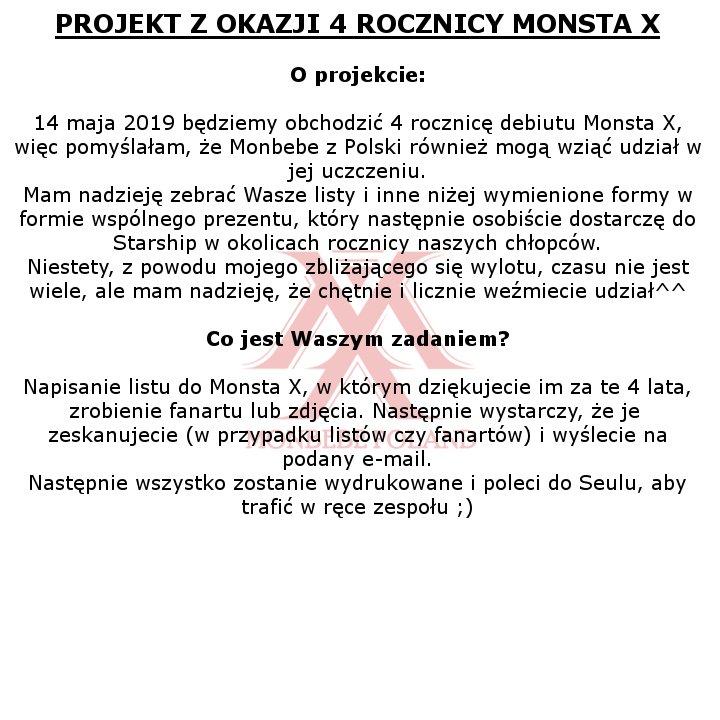 Monbebe Poland On Twitter Aby Doprecyzować Nie Musicie Pisać