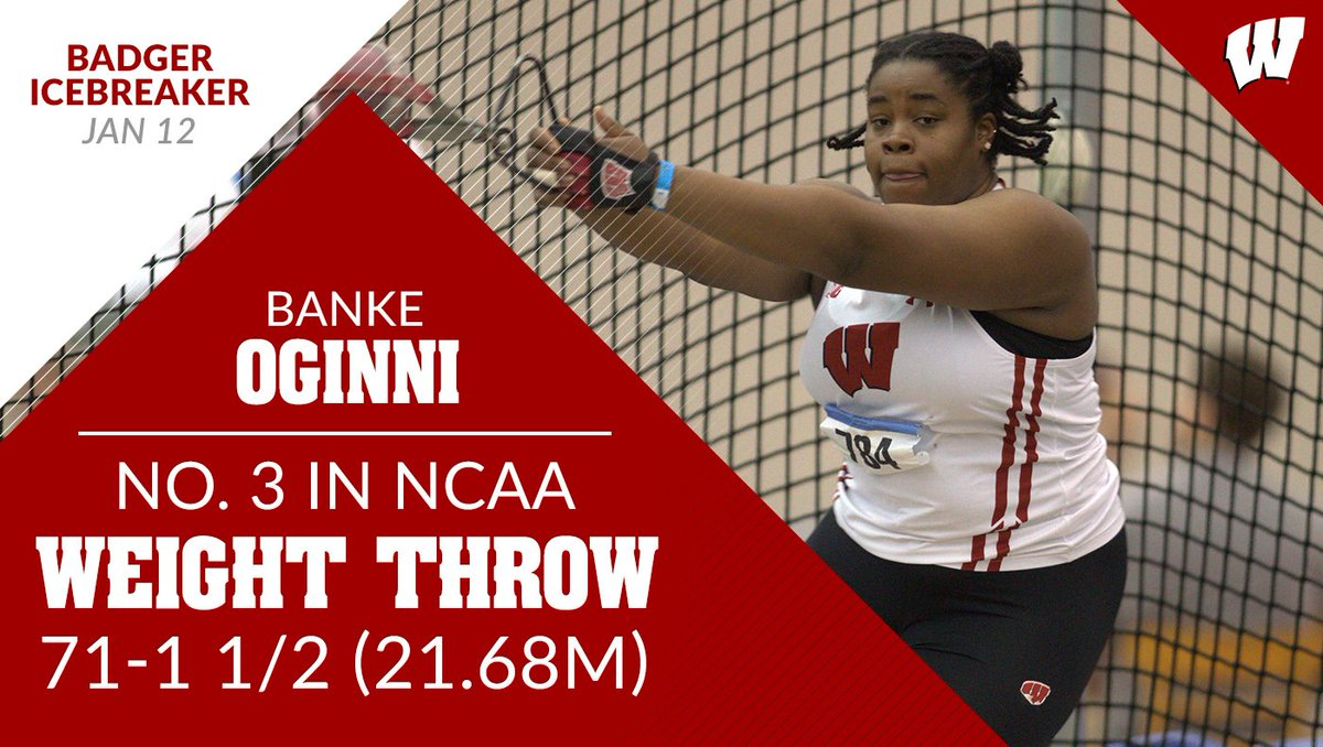 #Badgers @sweetbonks s in at No.  in the country in the weight throw! #OnWisconsin <br>http://pic.twitter.com/99OCpgrprf
