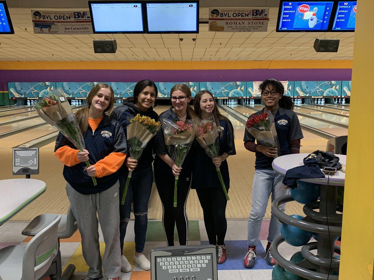 Congratulations to the Girls bowling team seniors!! Best of luck next year! 🦅🎱