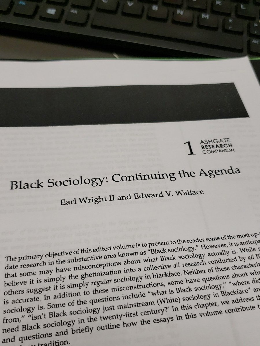First day of my Black sociology class is tomorrow and look what the reading is..@EarlWrightII @ABSociologists #blacksociology #newblacksociologists<br>http://pic.twitter.com/QX0ux99D2a