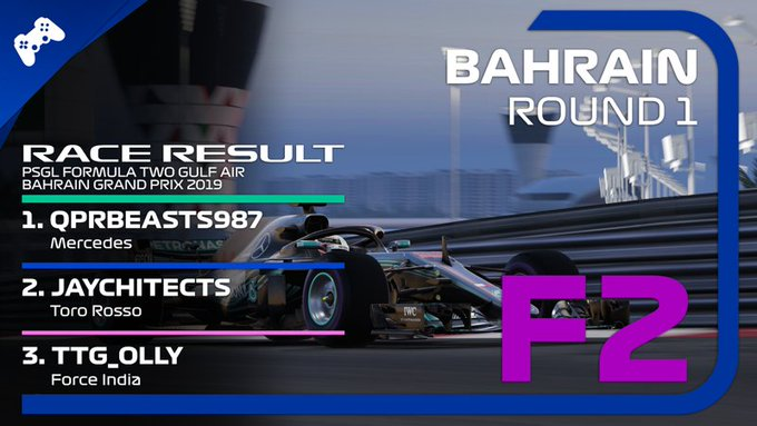 @louisjqpr takes the chequered flag in the season opener at Bahrain. A sign of things to come? Great podium finishes for Jaychitects and @TTG_Olly Photo