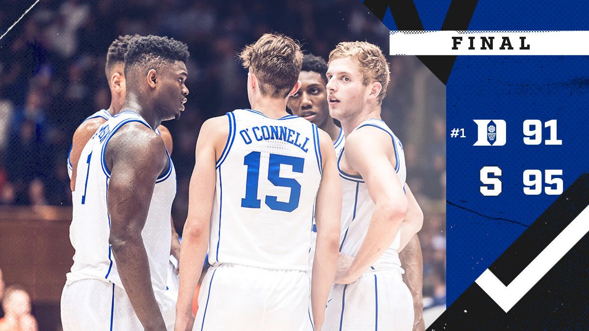 FINAL OT. Tough night in Cameron.