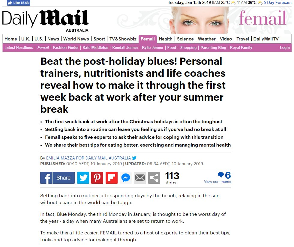 Are you back at work this week and finding it hard to reignite your mojo? @emiliajanemazza interviewed @LyndiCohen Victoria Mills, Camilla Bazley, Sam Webb and me in this article  https://www. dailymail.co.uk/femail/article -6571661/Experts-reveal-make-week-work-summer-break.html &nbsp; …   #holidaysareover #work #careers #lifestyle #mentalhealth<br>http://pic.twitter.com/cIOXzscd6B