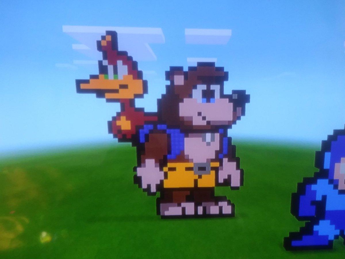 Here&#39;s some Banjo-Kazooie pixel art I did :D <br>http://pic.twitter.com/Z4VK3keuMH
