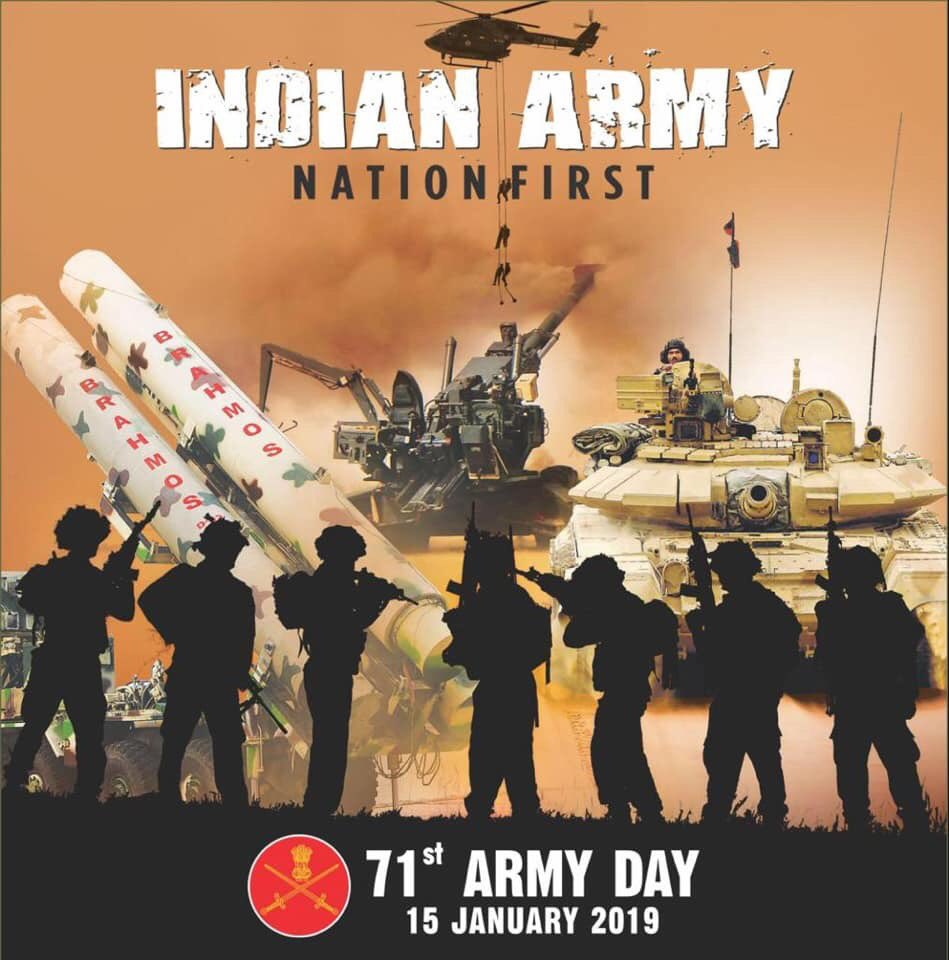 Climate changes, enemy changes, place changes, protecting the country never changes. Salute to the extraordinary men who have laid down their life for us in the line of defence and to those who are deployed to defend our motherland. #ArmyDay  Jai Hind