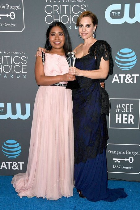 Thank you @CriticsChoice for an unforgettable night Gracias #CriticsChoiceAwards por una noche inolvidable @ROMACuaron Photo