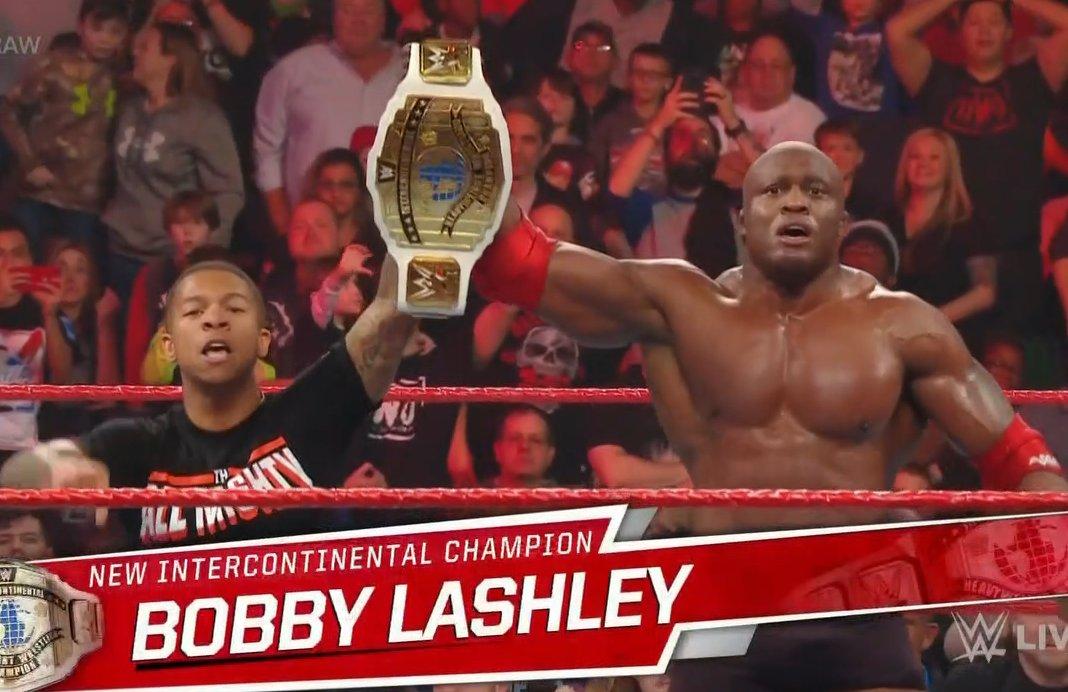 Bobby Lashley Wins WWE Intercontinental Championship On WWE RAW