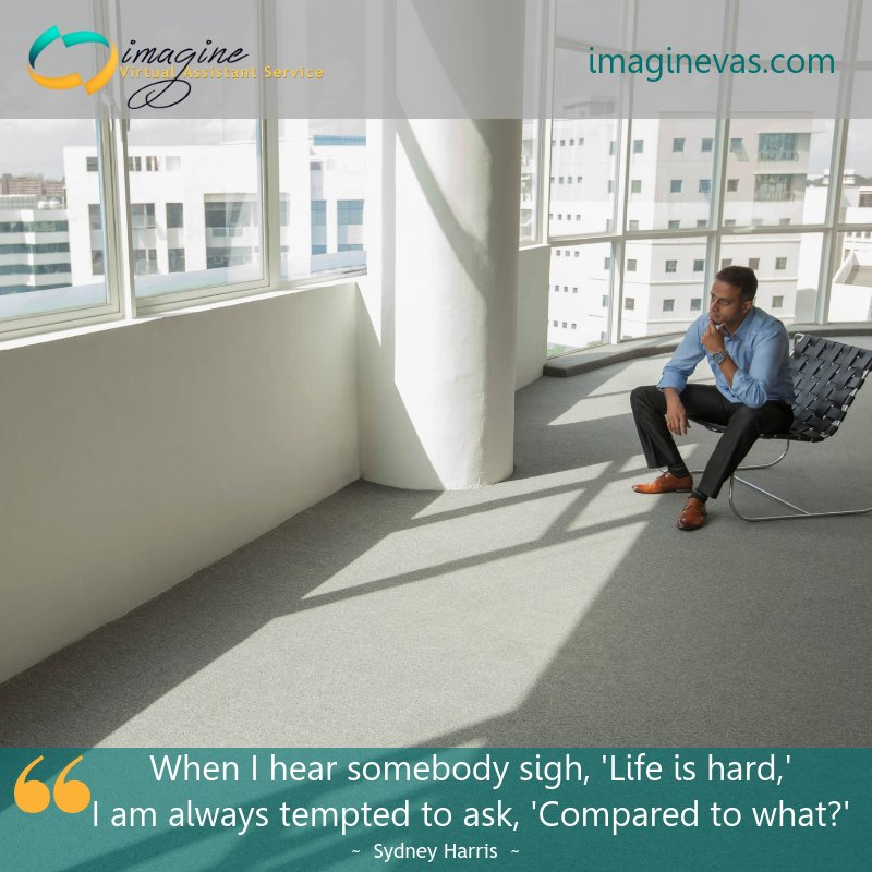 When I hear somebody sigh, &#39;Life is hard,&#39; I am always tempted to ask, &#39;Compared to what?&#39; #virtualassistant #smallbusiness #quote<br>http://pic.twitter.com/iDMsPRc9Xc