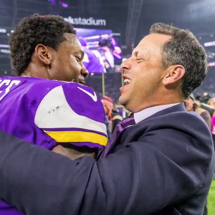 You'll always remember what you were doing, who you were with and where you were at.  A year ago tonight, @stefondiggs gave us the Minneapolis Miracle.