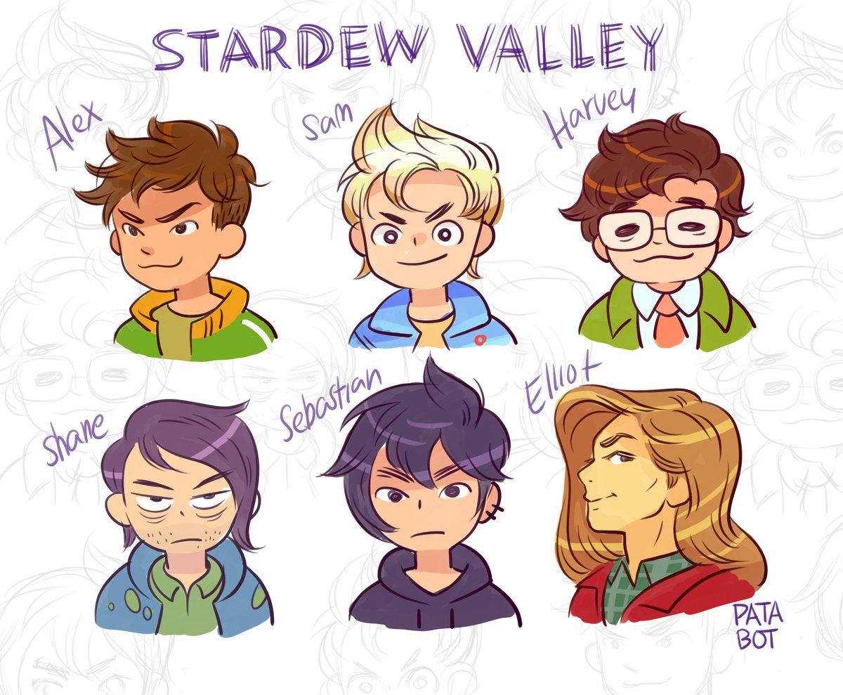 Stardew Valley Husbando redraws Elliot is essentially the same 👌