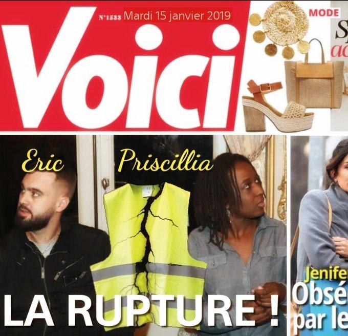 #giletsJaunes Rupture officielle entre Éric Drouet et Priscillia Photo