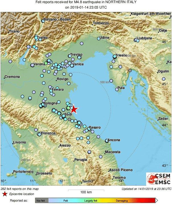 #earthquake in #Italy 30 min ago was also felt in #Ljubljana and part of #Croatia