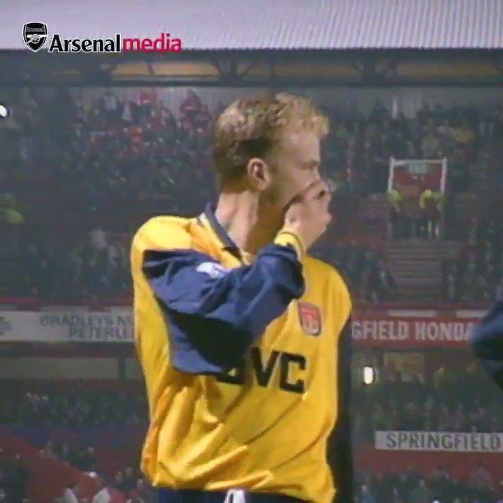 23 years ago today: Dennis Bergkamp scored this spectacular goal against Sunderland in the FA Cup.