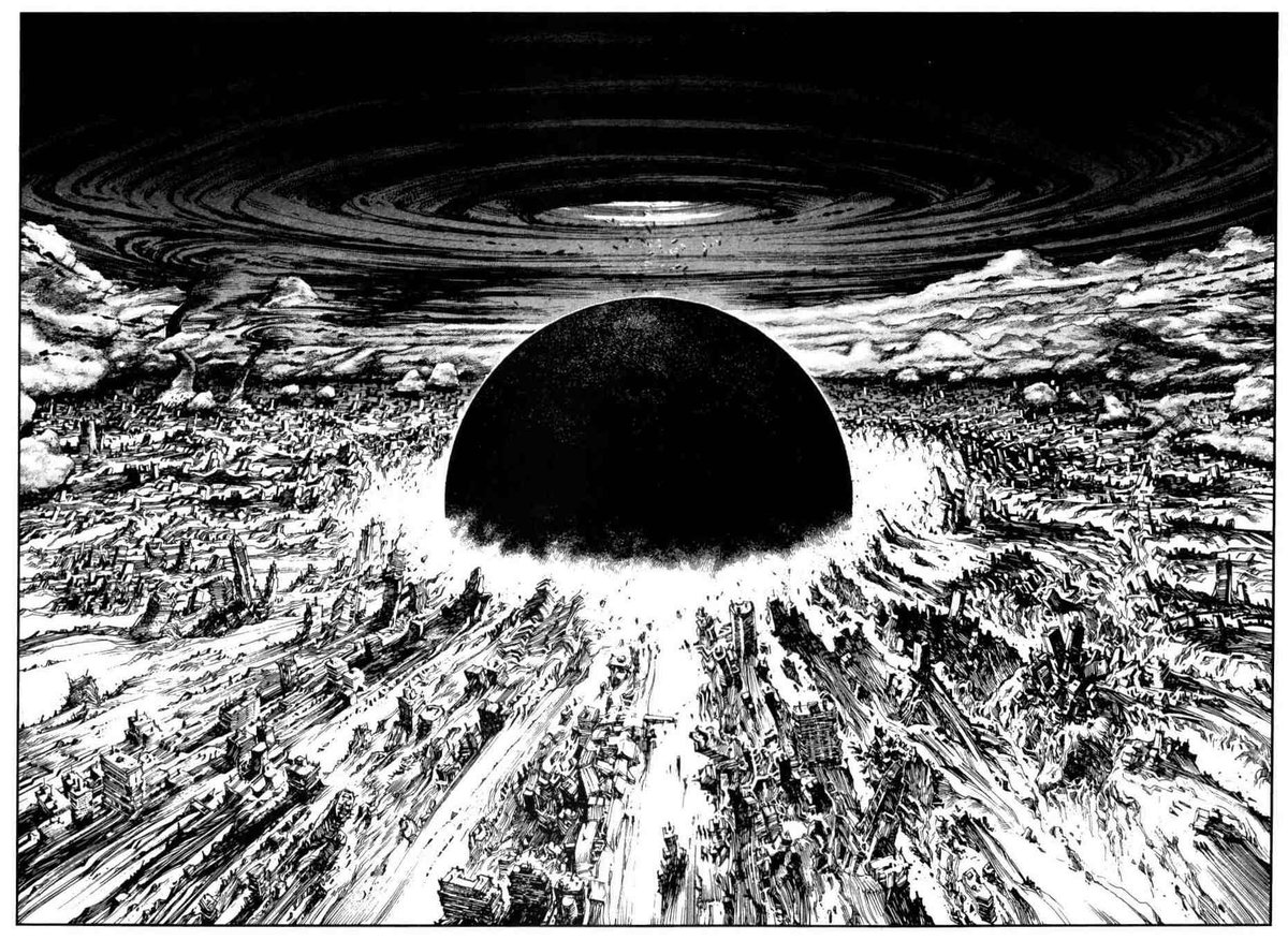 Chris On Twitter Any Interview With Katsuhiro Otomo Is Good But This Part Talks About Crosshatching The Neo Tokyo Explosion In Akira Is A Strong Portrait Of His Dedication To The Craft Https T Co Zglllftyzr